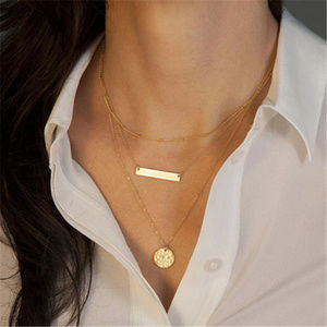 ❤️ 3for$25/ Delicate layered pendant necklace